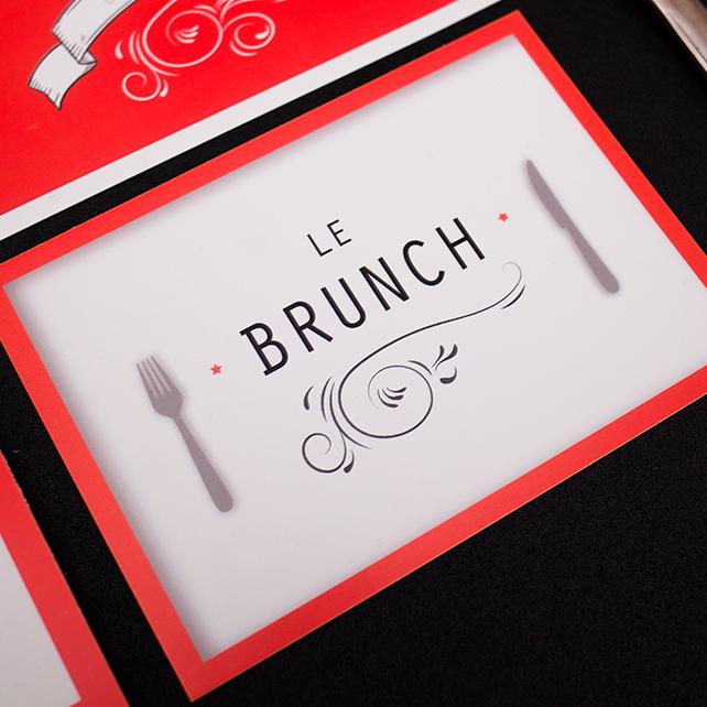 Invitation brunch, carton d'invitation