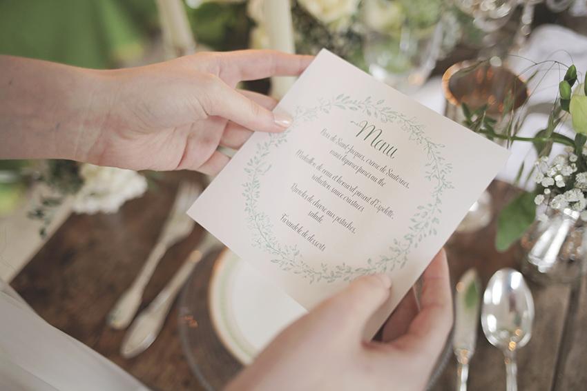 Menu de mariage / Sur-mesure, format carré
