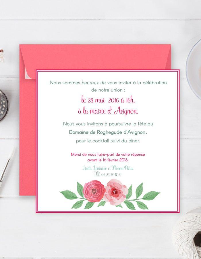 Faire-part de mariage Fleurs, flowers