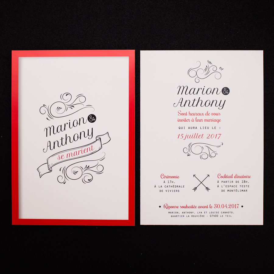 faire part mariage moderne invitation mariage moderne. Black Bedroom Furniture Sets. Home Design Ideas