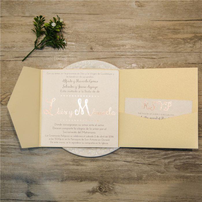 pochette faire-part mariage