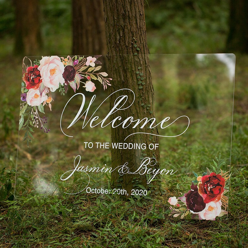 Panneau original bienvenue mariage