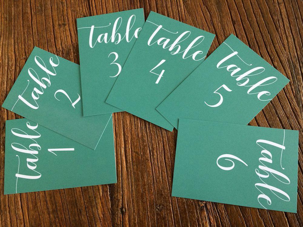 Numéro de table champêtre
