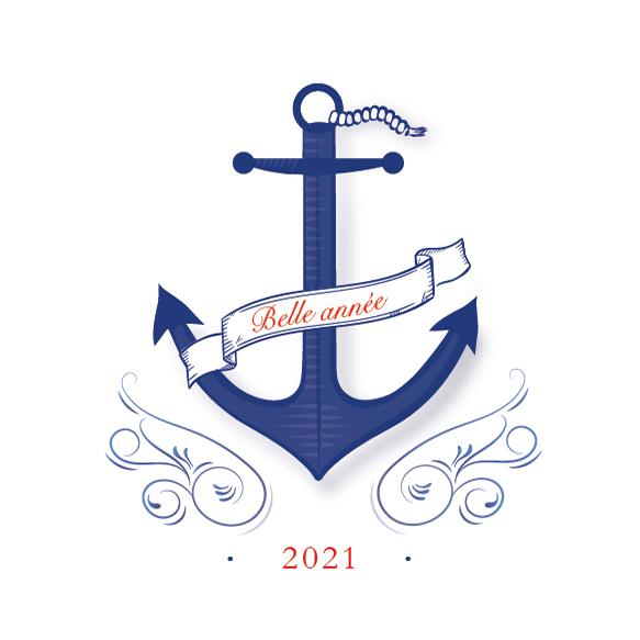 Carte de voeux originale, mer