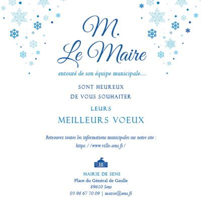 Carte mairie voeux