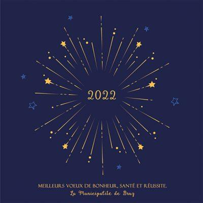 Carte voeux mairie, nouvelle année